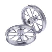 1 Pair Heavy Duty 12 1/2 x 2.75 Rim Wheel Replacement for 49CC Mini Moto Dirt Bikes (Color Silver)