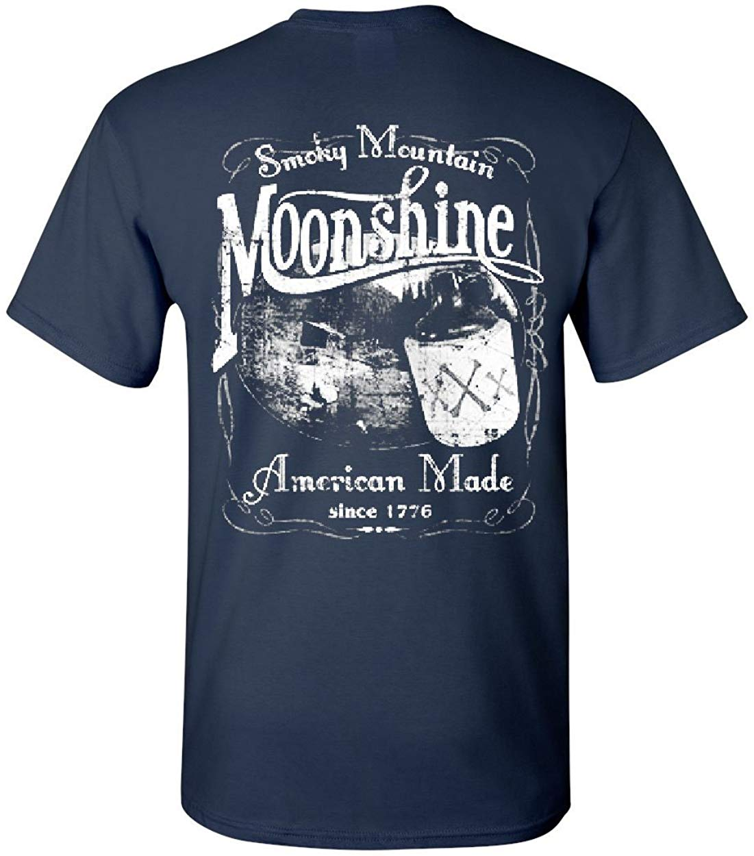 Smoky Mountain Moonshine T Shirt Men Women Tennessee Whiskey TEE Shirt Free Shipping Funny Tops image