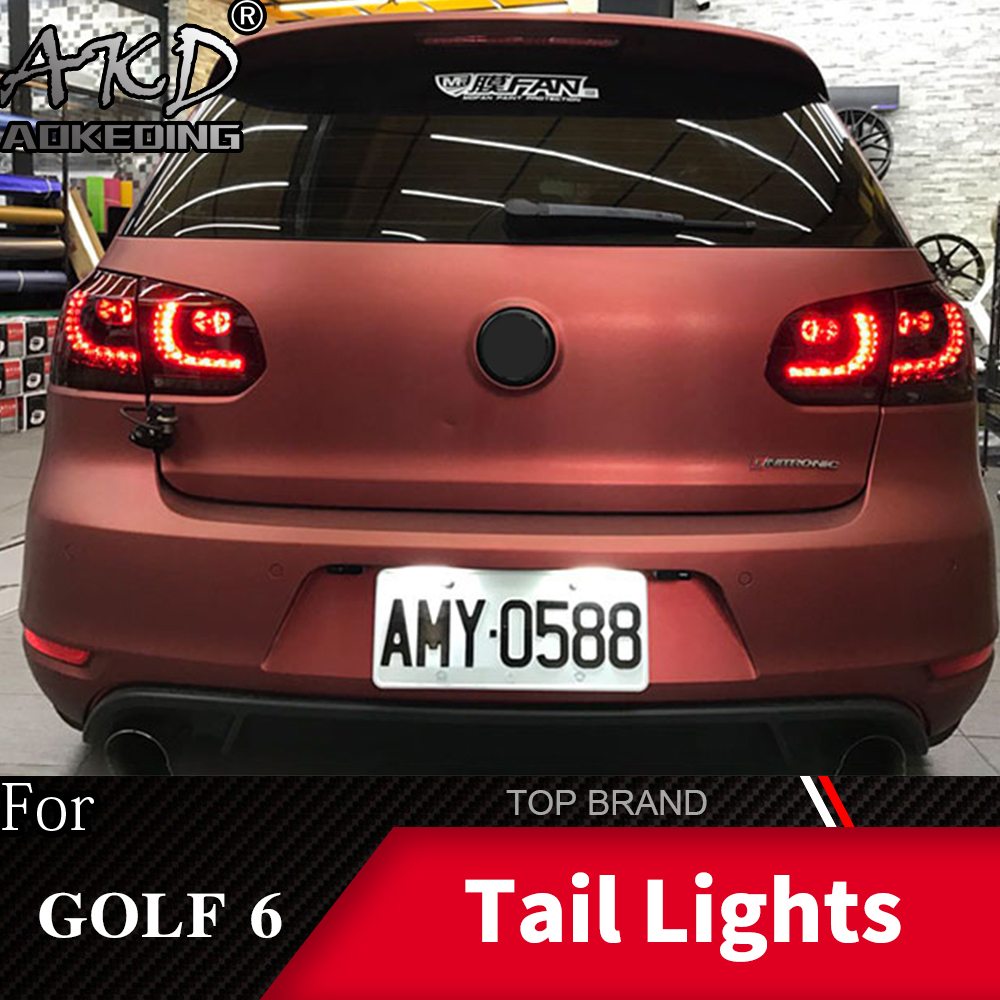 <font><b>Tail</b></font> Lamp For VW <font><b>Golf</b></font> 6 2009-2012 R20 MK6 <font><b>LED</b></font> <font><b>Tail</b></font> <font><b>Lights</b></font> Fog <font><b>Lights</b></font> Daytime Running <font><b>Lights</b></font> DRL Tuning Cars Car Accessories image