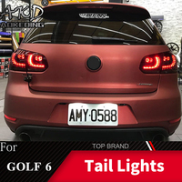 Tail Lamp For VW Golf 6 2009 2012 R20 MK6 LED Tail Lights Fog Lights Daytime Running Lights DRL Tuning Cars Car Accessories