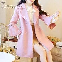 Women Wool Blend Warm Jackets Streetwear Female Cardigan Lad
