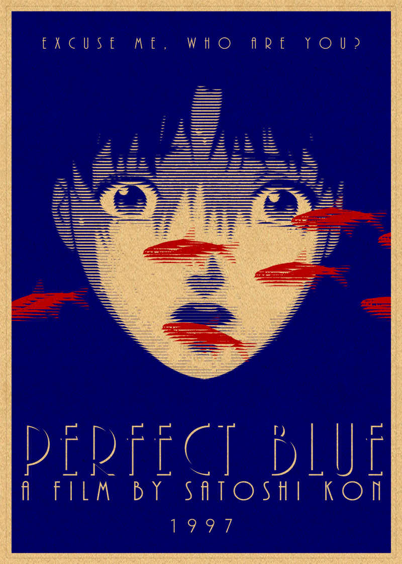 New Perfect Blue Movie Comic Poster Yellow Kraft Photo Paper Wallpaper Bar Cafe Decoration Poster Aliexpress