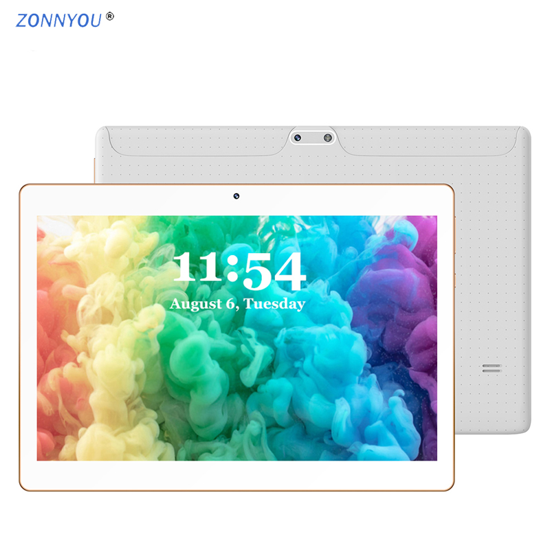 10.1 Inch PC Tablets Android 8.0 Octa Core 3G Phone Call 4GB RAM 64GB Dual SIM GPS Bluetooth Wi-Fi Tablet PC+Cover