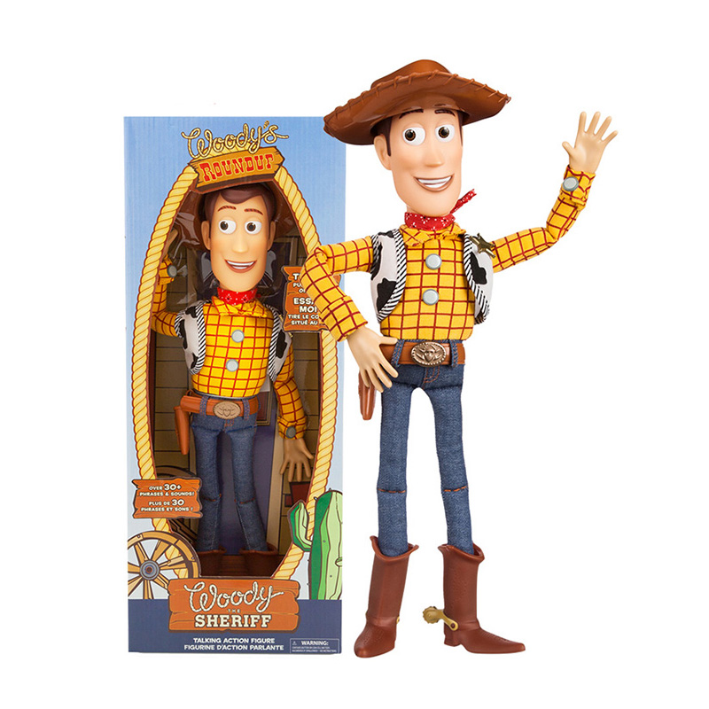 1pc 45cm Toy Story 3 4 Talking Woody Action Figures Collectible Model Doll Toys For Children Christmas Birthday Gift
