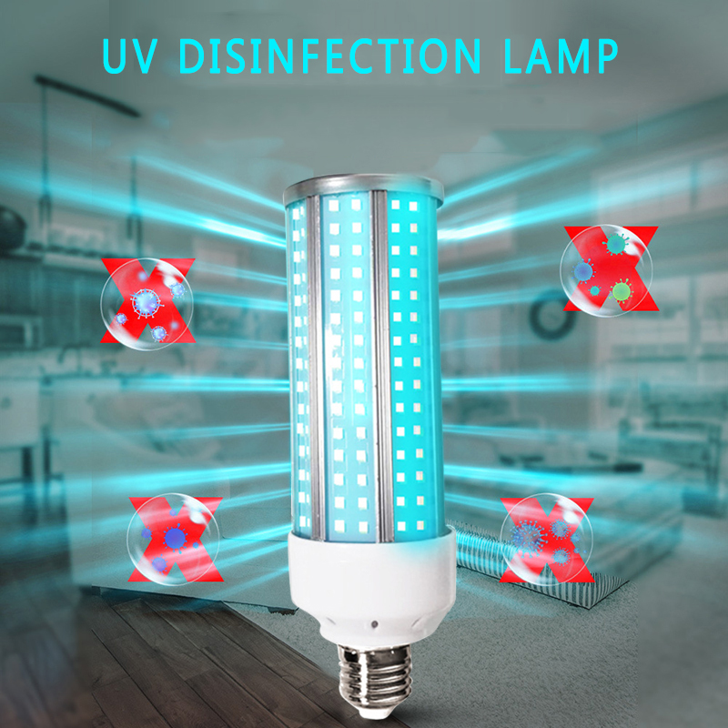 UVC E27 60W Germicidal Disinfection Lamp Ozone UV Ultraviolet Sterilizing Corn Bulb Pet Nest Household Without Battery