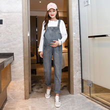 Buy Denim Maternity Jeans Suspender Pants Overalls Braced Jumpsuits for Pregnant Women Uniforms Pregnancy Romper Prop Belly Trousers directly from merchant!