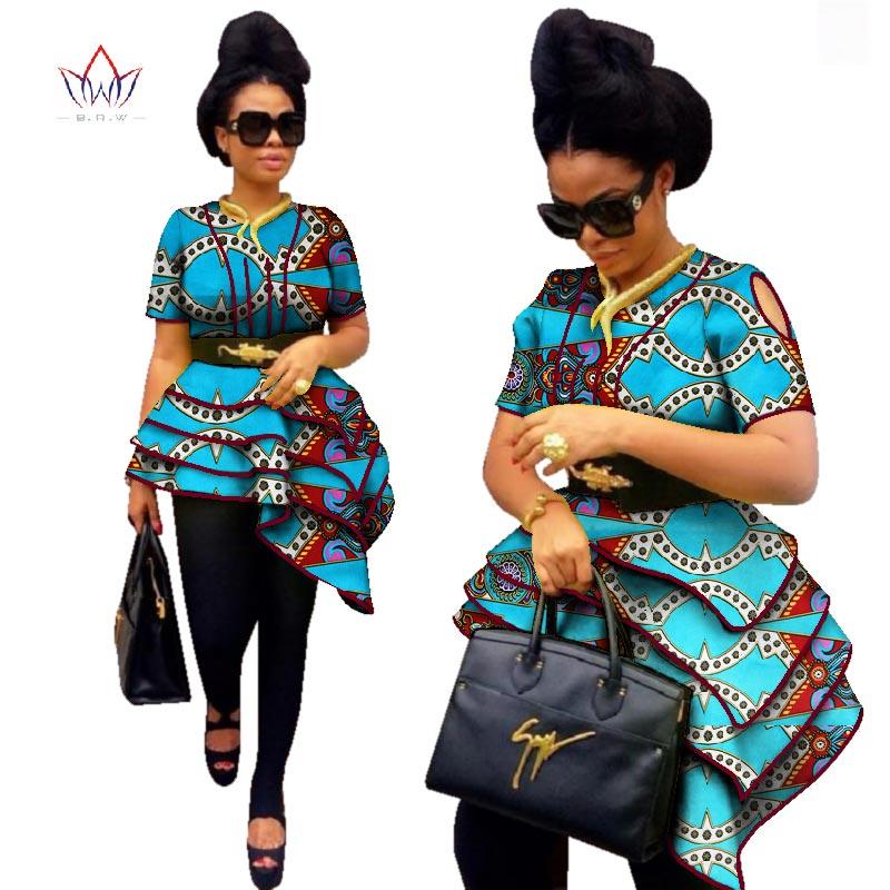 BRW Africa Style Women Modern Fashions Womens Tops Dashiki African Print Tops Shirt Plus Size M-6XL Women Clothing WY2576 cardigan