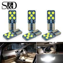 Bombillas LED Canbus T10 W5W para BMW, Audi, Mercedes, luces de lectura Interior de coche, luz de maletero blanca y azul, sin Error, 12V, 6 uds.