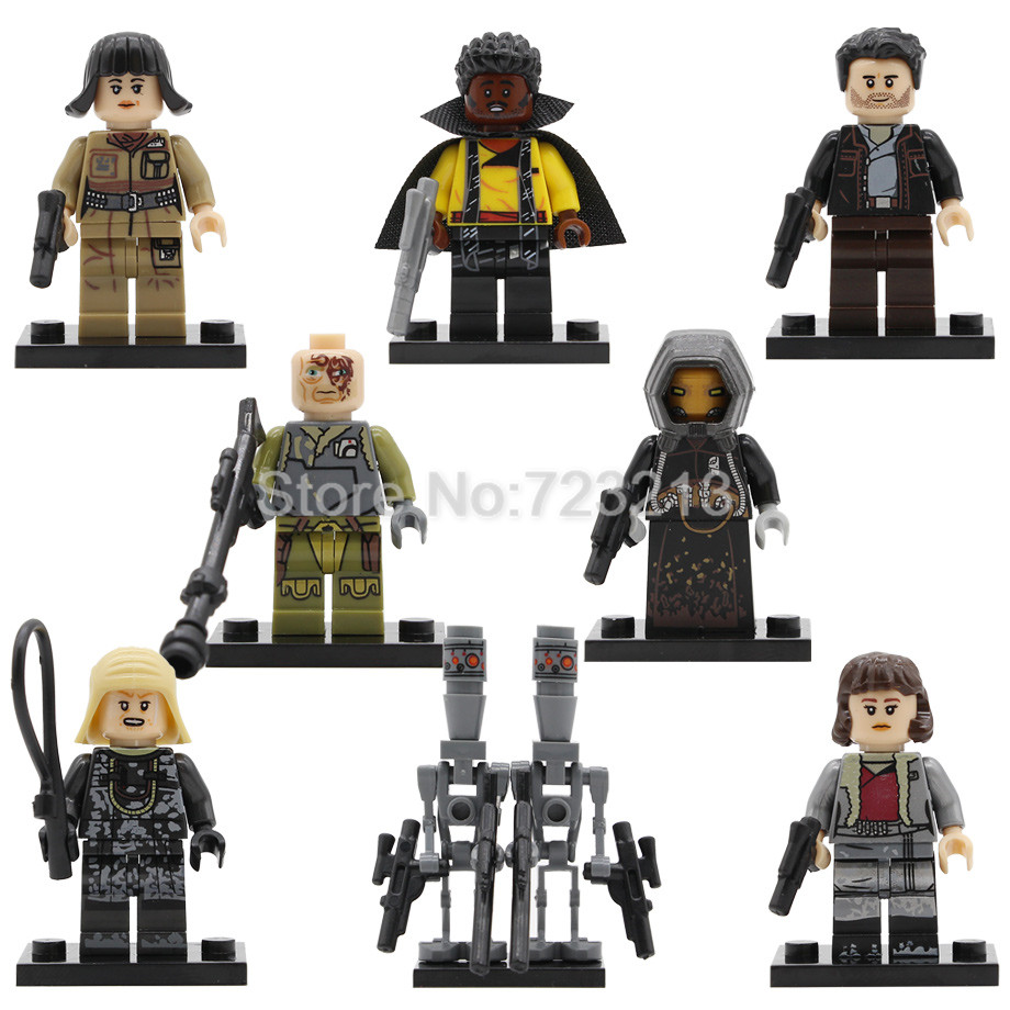 Single Sale Obi Wan Star Wars Qi'Ra Quay Tolsite Lando Poe Dameron IG-88 Rose Lobot Model Set Building Blocks Brick Toys