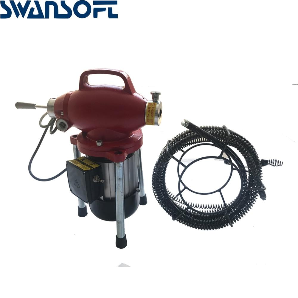 220 В профессиональный очиститель труб машина для очистки дренажных труб очиститель сточных вод Электрический Змеиный канализационный - 5