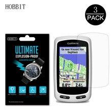 3 adet Nano anti-şok Film için Garmin kenar 800 810 E800 E810 GPS ekran koruyucu Anti-Scratch su geçirmez HD PET Film cam değil
