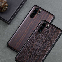 Boogic Original For Huawei P30 Case Huawei P30 Pro Black Ebony Wood Cover For Huawei P30 Pro Protective Case|Fitted Cases| |  -