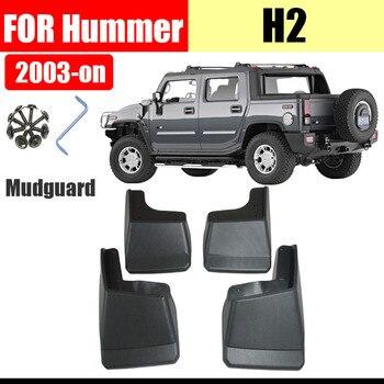 Mud flaps for Hummer H2 Mudguards Fender Hummer H2 Mud flap splash Guard Fenders Mudguard car accessories Front Rear 4 PCS