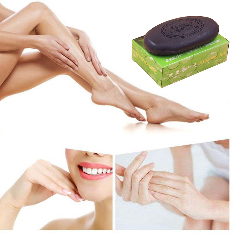 Women Face Hand Body Healthy Care Soap Active Energy Bamboo Tourmaline Soap For Lady Female