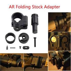 Adaptador de acción plegable AR táctico de 30mm para M16/M4 SR25 series GBB(AEG), alcance de pistola de Airsoft, accesorios de caza