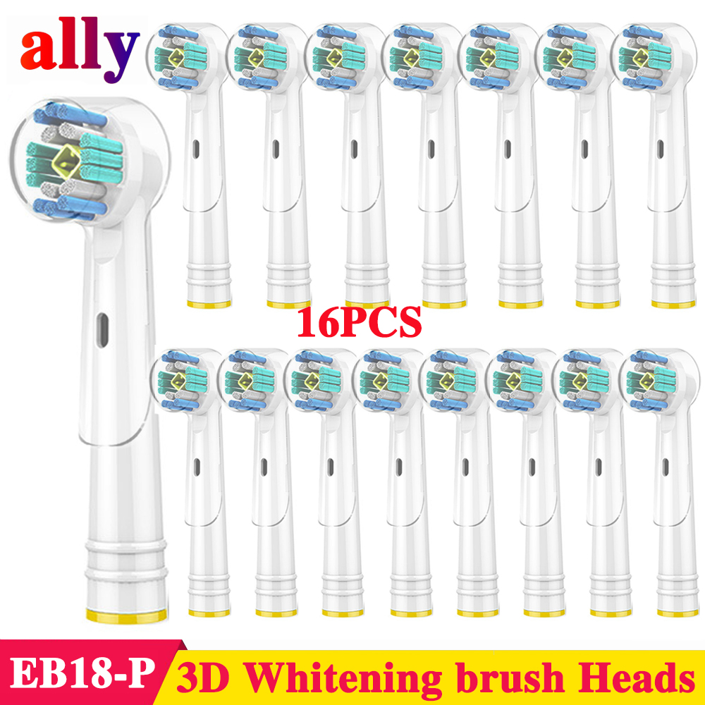 16X 3D Whitening Electric toothbrush heads Replacement For Braun Oral B Vitality Triumph D12013 Electric Toothbrush Heads image