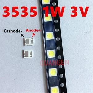 Image 3 - 200 sztuk lumenów podświetlenie LED Flip Chip LED 2.4W 3V 3535 fajne białe 153 lm dla SAMSUNG LED LCD podświetlenie aplikacji TV