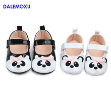 DALEMOXU Baby Toddler Shoes Cute Panda Dress Princess Infant Sneakers Cartoon Casual Newborn with Bows
