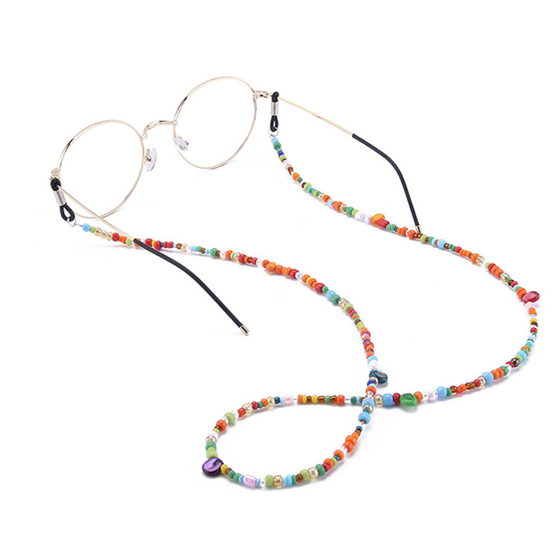 1PC Multicolor Glass Beaded Eyeglass Chain Non-slip Sunglasses Reading Glasses Strap Eyewear Cord Women's Glasses Accessories