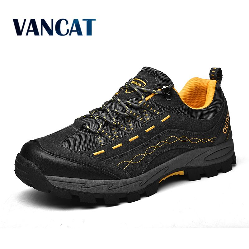 VANCAT 2020 New Spring Autumn Sneakers Men Shoes Outdoor Hiking Comfortable Mesh Breathable Male Footwear Non-slip Casual Shoes