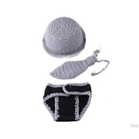Cute Baby Newborn Photography Props Costume Infant Baby Girls Boys Little Gentleman Outfit F1CB