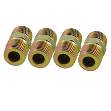 "4 Pcs 1/2"" to 1/2"" PT Equal Thread Pipe Fittings Hex Nipples Connectors(China)"