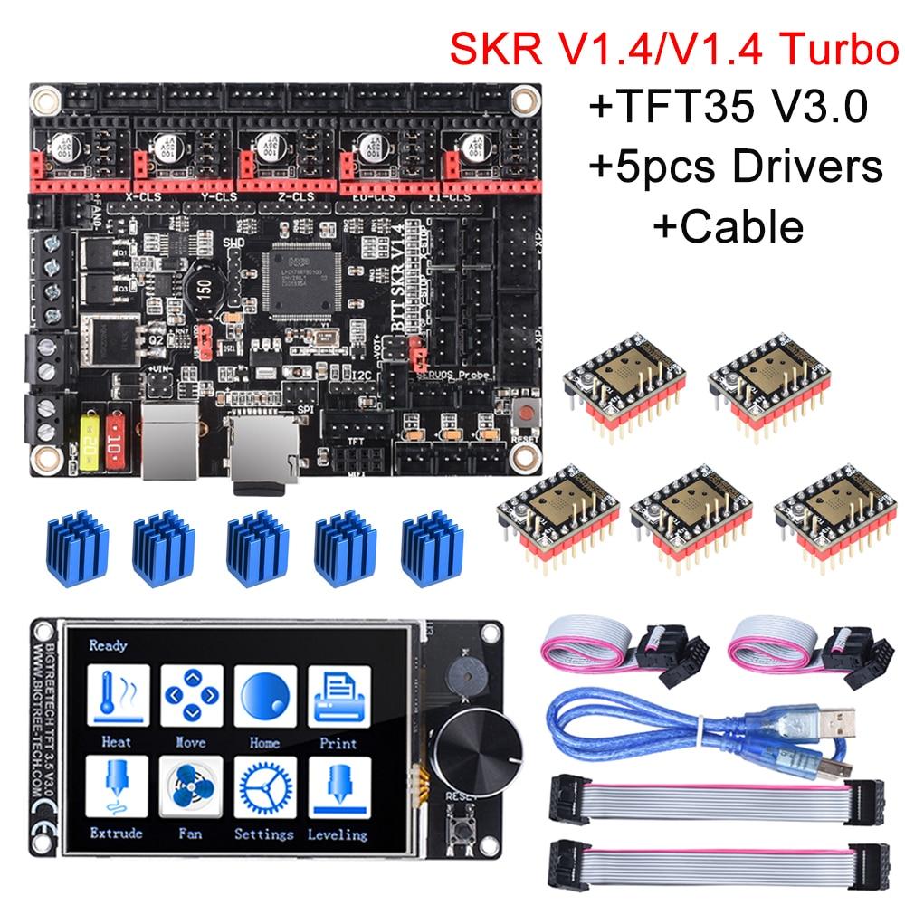 BIGTREETECH SKR V1.4 SKR V1.4 панель управления Turbo 32 бит + TFT35 V3.0 + BLtouch + TMC2209 TMC2208 Запчасти для 3D-принтера SKR V1.3 MKS Ender3