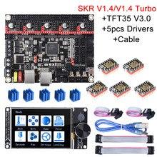 Bigtreetech skr v1.4 skr v1.4 turbo placa de controle 32bit + tft35 v3.0 bltouch tmc2209 tmc2208 peças impressora 3d skr v1.3 mks ender3
