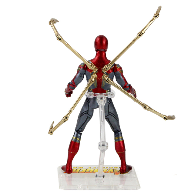17cm Avengers Super Hero Infinity War Iron Spiderman Action Figure PVC Spider Man Collection Model Toy