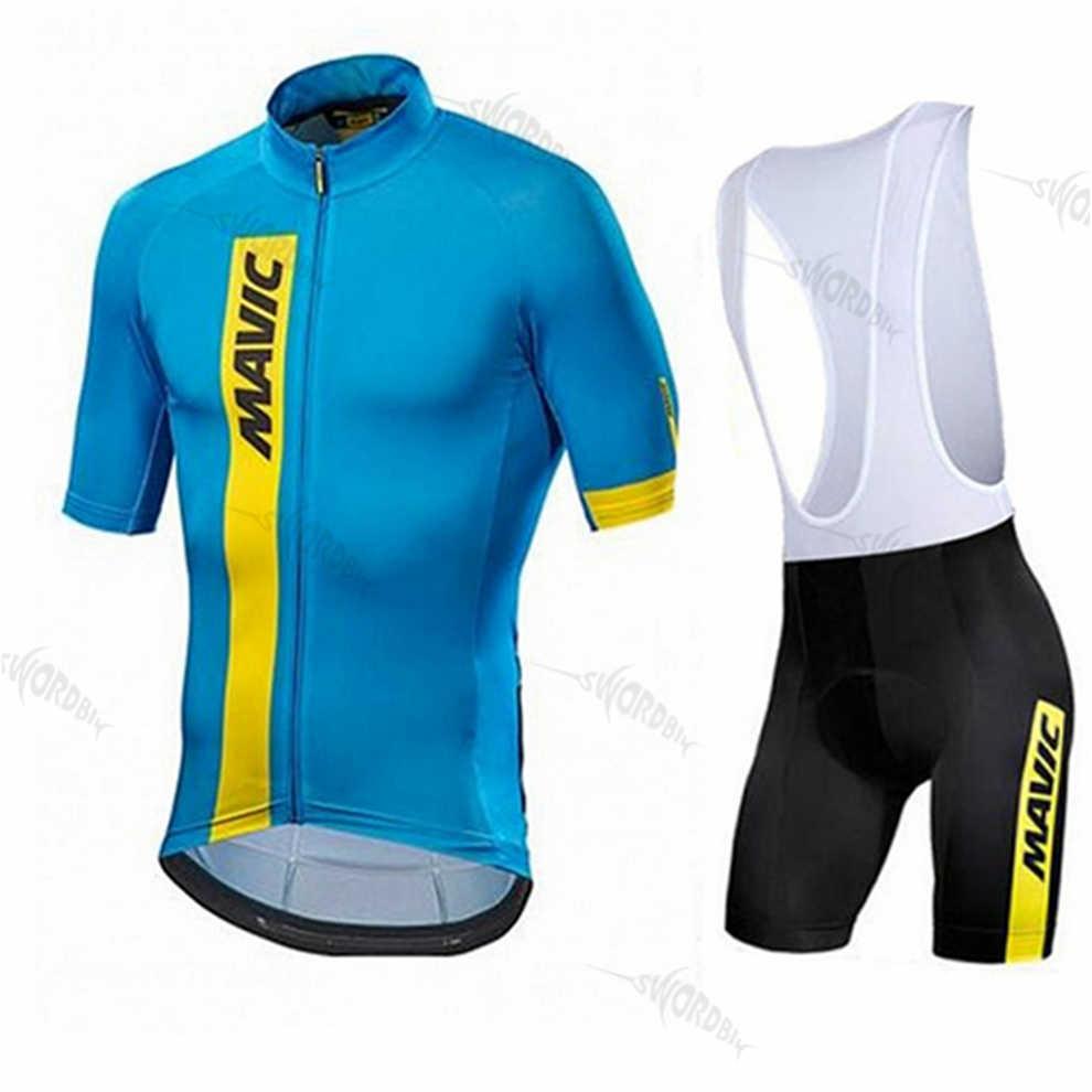 ملابس لركوب الدراجات من الجيرسيه موديل 2019 Pro Team MAVICING أطقم ملابس لركوب الدراجات من الجيرسيه للرجال أطقم ملابس لركوب الدراجات من الجيرسيه للرجال طراز Ropa Ciclismo
