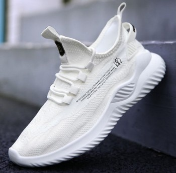 2020 autumn new breathable sports men's shoes casual shoes sneakers Korean trend cloth shoes 4
