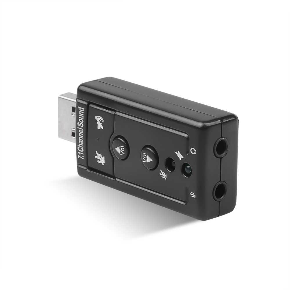 新 7.1 CH チャンネル Usb オーディオサウンドカード USB 2.0 マイクスピーカーオーディオヘッドセットマイクとマイク 3.5 ミリメートルジャック変換