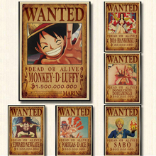 Anime Posters Wall-Stickers Chopper Home-Decor One-Piece Vintage Luffy Paper