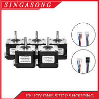 Nema17 Stepper Motor 38mm 42 motor Nema 17 motor 42BYGH 1.5A 17HS4401 S 17HS4401S motor 4-lead for 3D printer CNC XYZ