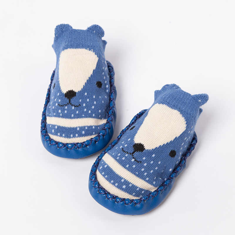 Детские носки с резиновой подошвой; носки для младенцев; сезон весна-осень; детские носки-тапочки; противоскользящая обувь; модные носки с мягкой подошвой