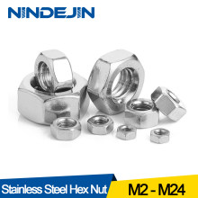 Hexagon Hex Nuts Metric DIN934 M2 M2.5 M3 M4 M5 M6 M8 M10 M12 M14 M16 M18 M20 M22 M24 Carbon Steel Stainless Steel Hex Nuts(China)