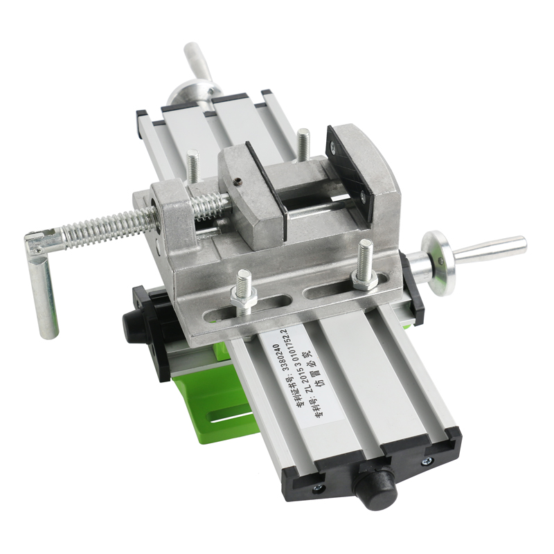 Tools : Mini Multifunction Lathe Milling Machine Bench Drill Vise Worktable With X Y Bidirectional Coordinate Axis