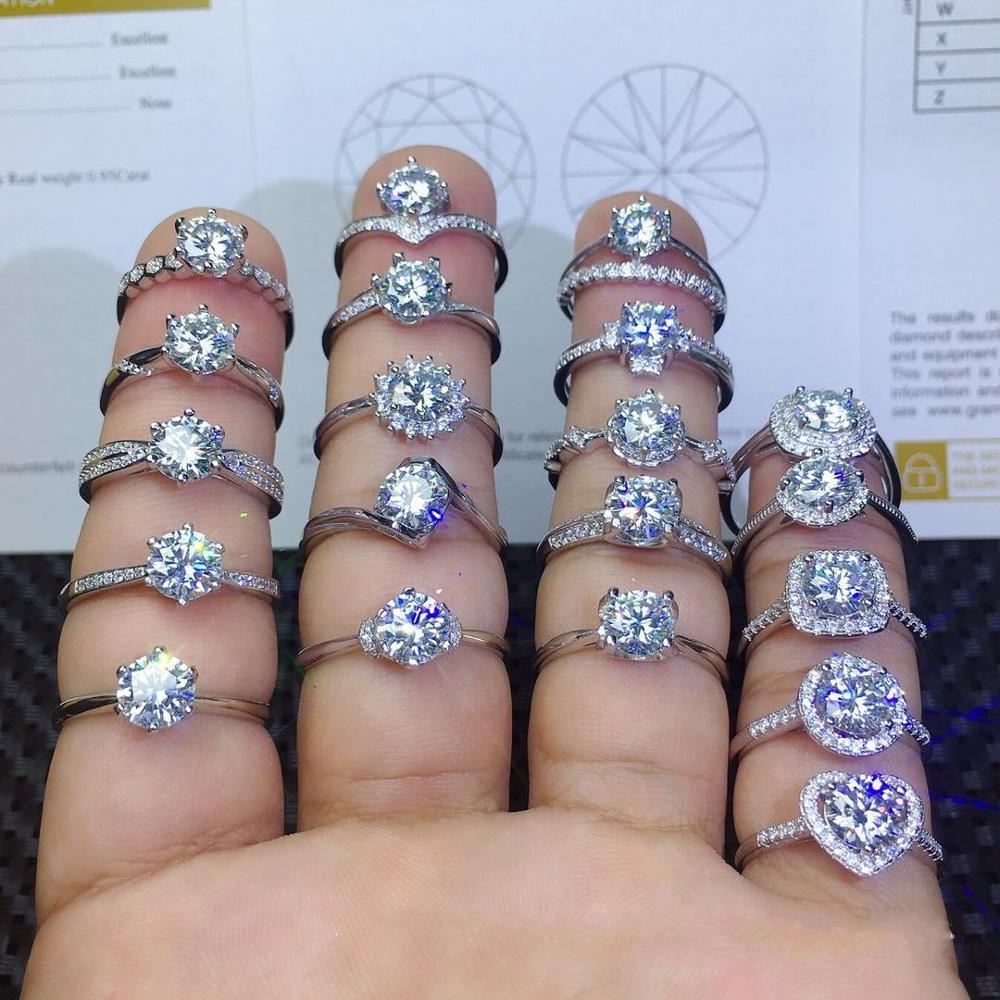 90% de réduction amoureux Lab diamant promesse bague 925 en argent Sterling fiançailles bague de mariage anneaux pour femmes hommes Fine fête bijoux cadeau 2