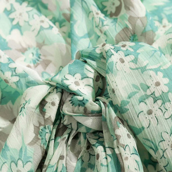 RZIV camisa mujer verano casual hoja de loto flor camisa párrafo corto