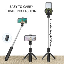 New L06S Wireless Bluetooth Selfie Stick Tripod Extendable Monopod with Bluetooth shutter For smartphone