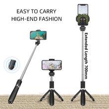 Nova l06s sem fio bluetooth selfie vara tripé extensível monopé com obturador bluetooth para smartphone