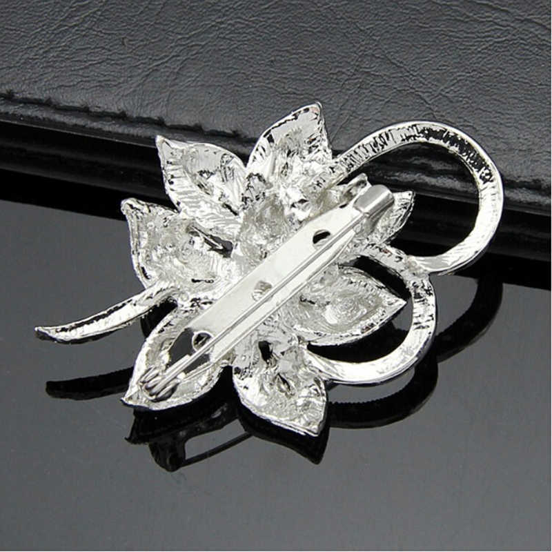 Kristaller moda kadınlar simli renk çiçek şekiller İmitasyon İnci broş Pin takı hediye iğneleri broş De Strass