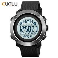 SKMEI Bluetooth Sport Watch Heart Rate Monitor Men Digital Wristwatches 30M Waterproof Compass Light Calling Watches 1511 1512