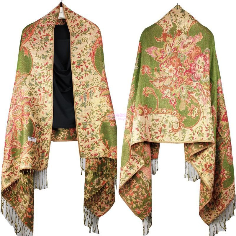 Women/'s Peacock Pashmina Silk Scarves Large Scarf Shawl Stole Wraps With Tassels