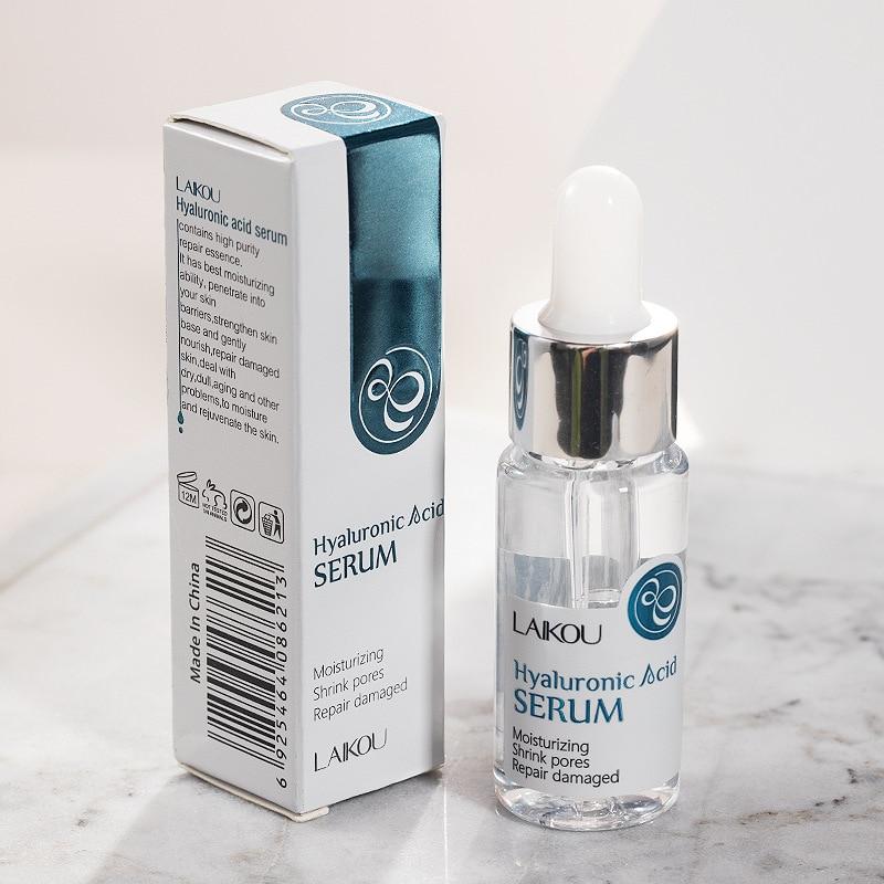 LAIKOU Moisturizing Hyaluronic Acid Serum Shrink Pores Liquid Essence Anti Wrinkle Whitening Repair Face Skin Care Treatment