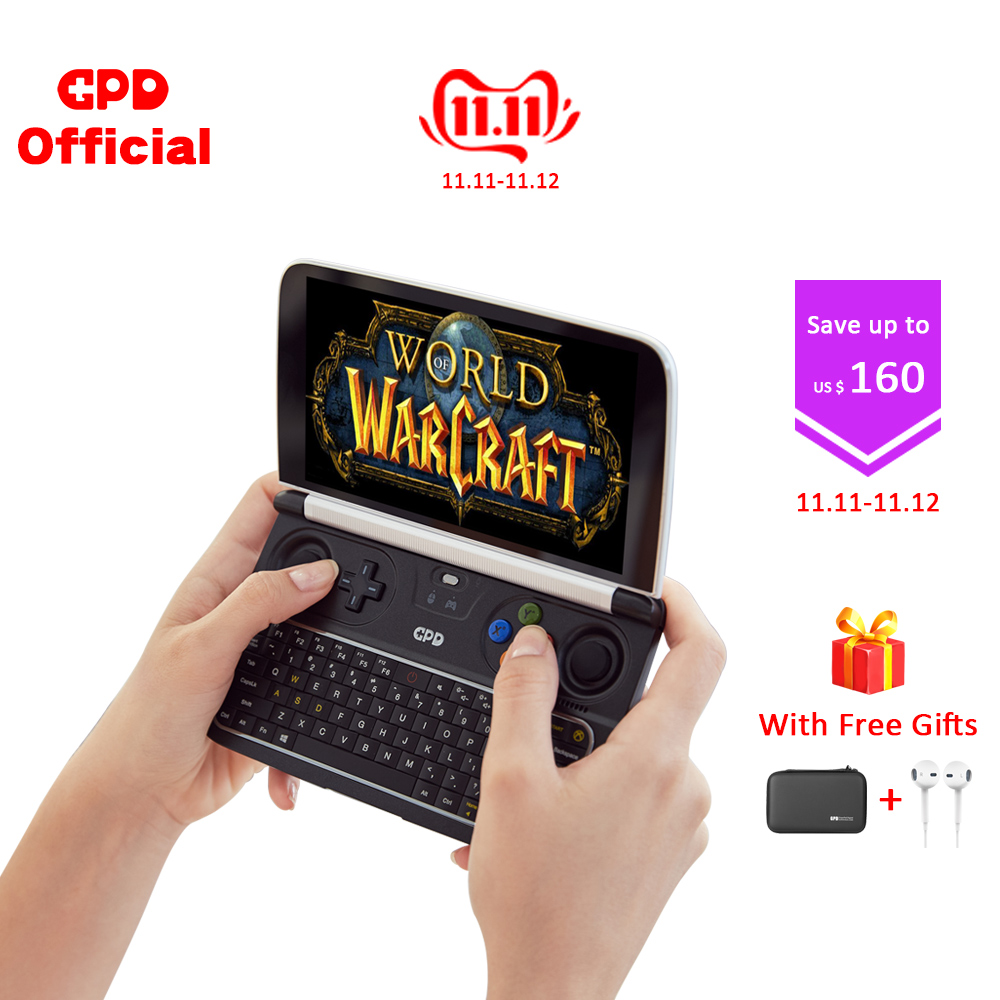 GPD Latest WIN 2  WIN2 8GB 256GB Intel m3 8100y 6 Inch Touch Screen Mini Gaming PC  Laptop Notebook Windows 10 System-in Laptops from Computer & Office