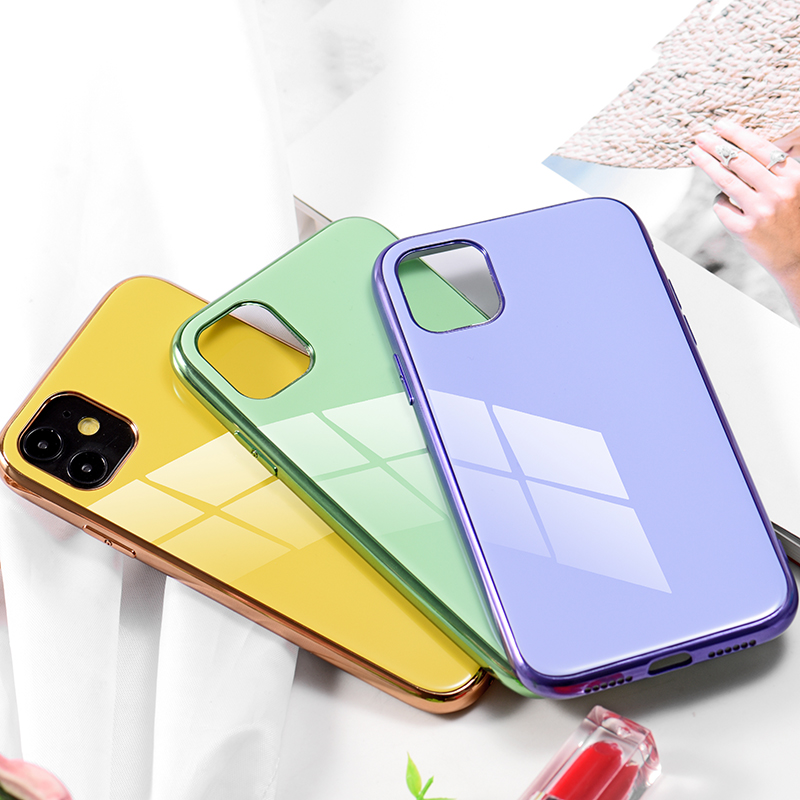 soft shell TPU Case Plating Cover For iPhone11 XS Max iPhone X Phone Case Luxury Hard Coque With Logo For phone 11 case 6