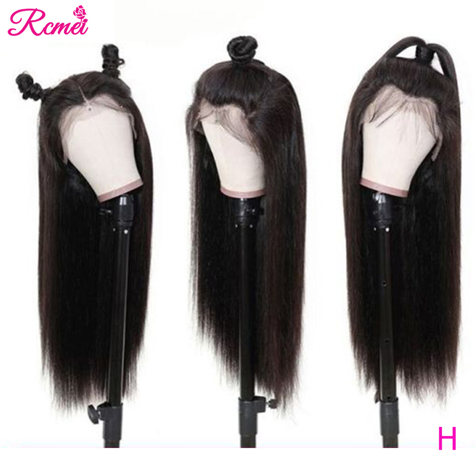 Lace Part Wig Human Hair Wigs Straight Lace Front Wig Pre Plucked With Baby Hair 26 INCH 150% Brazilian Middle Part Remy Wigs