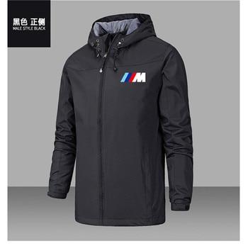 Bmw M Power Jacket Men Lightweight Hooded Zipper Waterproof Coat Windproof Warm Solid Color Fashion Male Coat Outdoor Sportswear 1