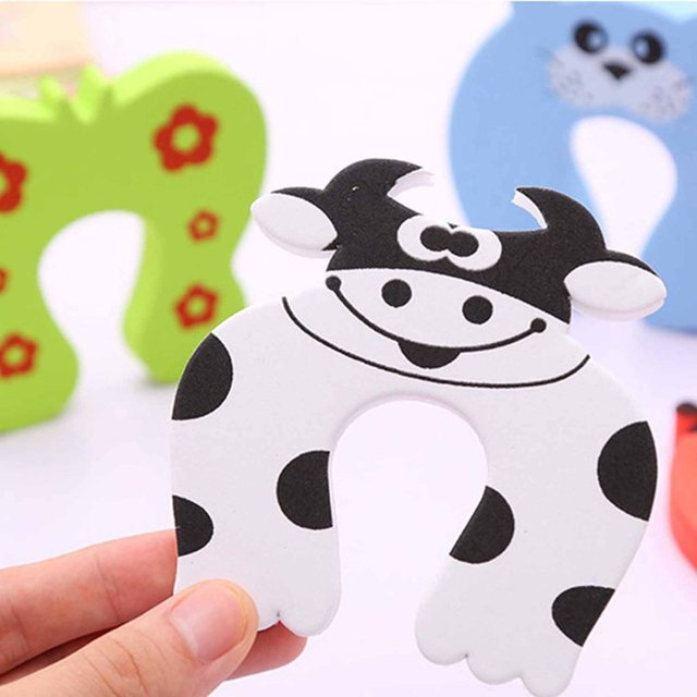 1 Pcs Cofre Infantil Door Stop Seguridad Puerta Stylish Baby Finger Pinch Guards Keep Safety Children Holder Random Color 3